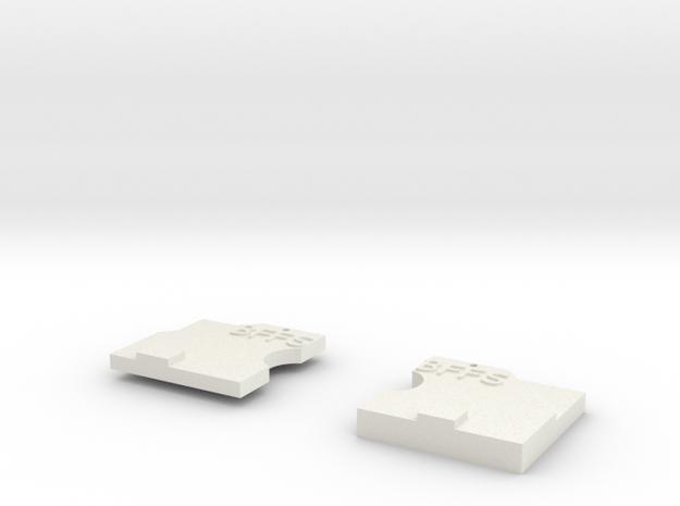 Best Friend Necklace Pendants in White Natural Versatile Plastic