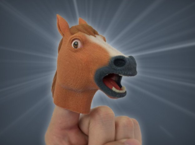Creepy Horse Head in Full Color Sandstone