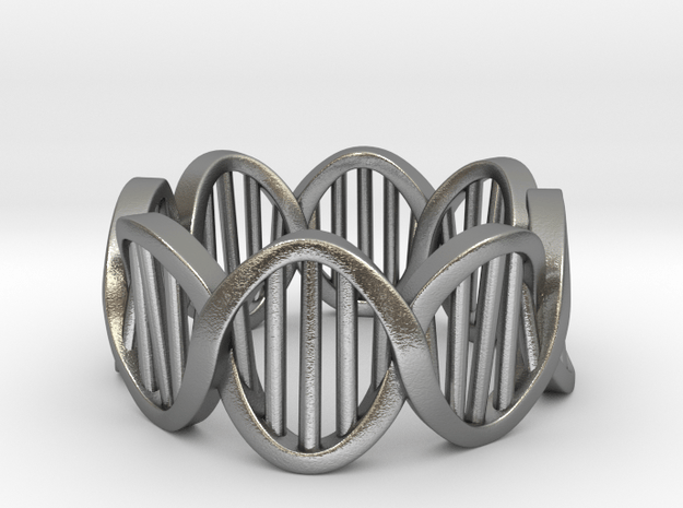 DNA Ring (Size 9) in Natural Silver