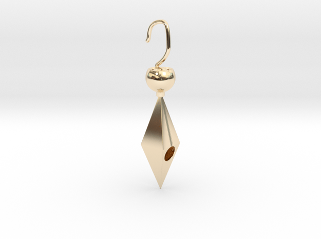 Golden cheap cute earring in 14K Yellow Gold