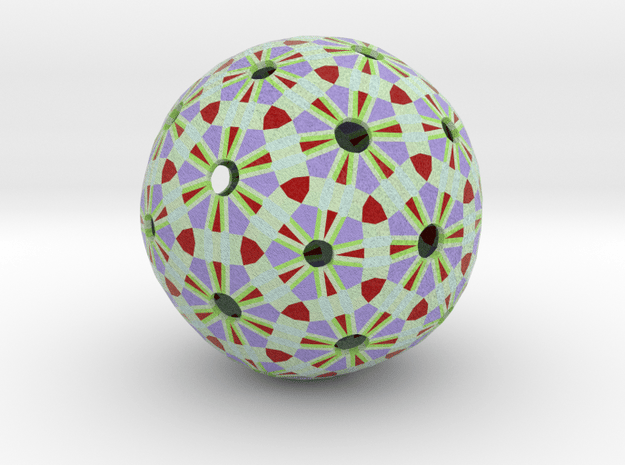 Soccerball Abstract in Full Color Sandstone