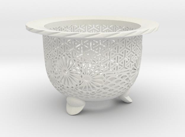 "Neo Pot - Model 3 - Size 2.5 (2.5"" ID) in White Natural Versatile Plastic"