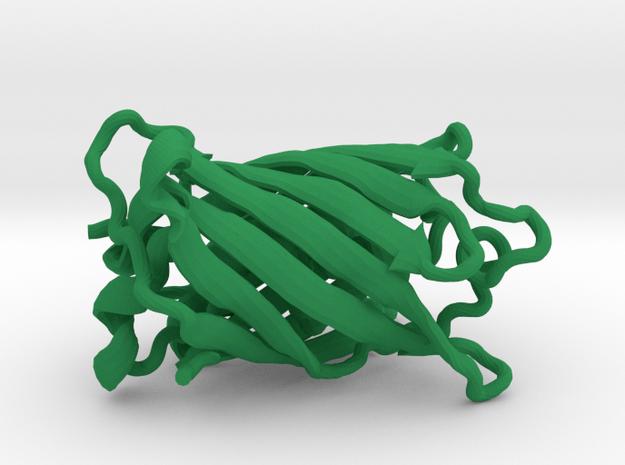 Green Fluorescent Protein in Green Processed Versatile Plastic
