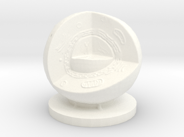 Cell cut away 50mm tall in White Processed Versatile Plastic