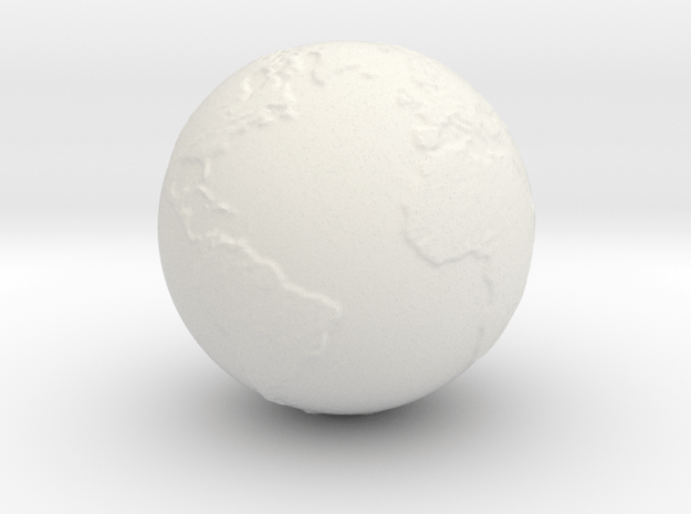 Earth hollow in White Natural Versatile Plastic