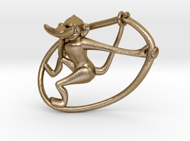 See No Evil. No,1 in Polished Gold Steel