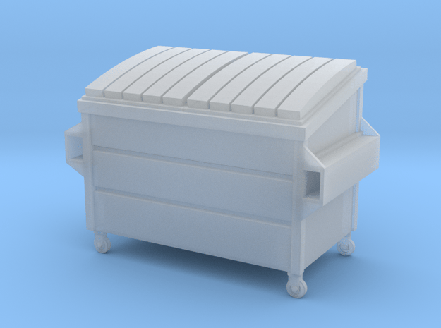 Dumpster Small in HO in Smooth Fine Detail Plastic
