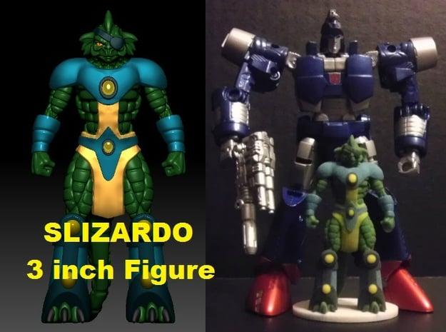 Slizardo homage Komodo 3inch Transformers Mini Fig in Full Color Sandstone