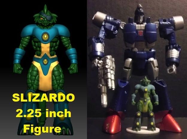 Slizardo homage Komodo 2.25inch Transformers Mini  in Full Color Sandstone