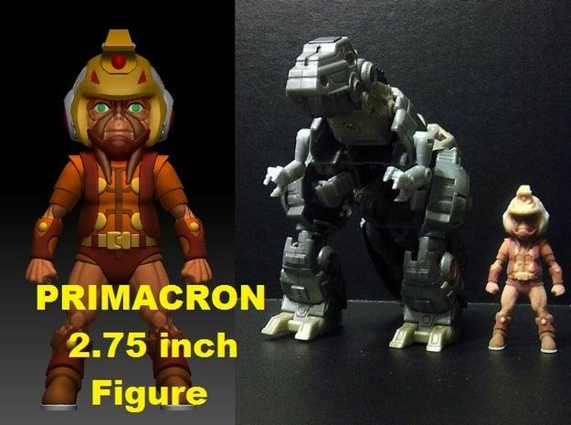 Primacron homage Space Monkey 2.75inch Transformer in Full Color Sandstone