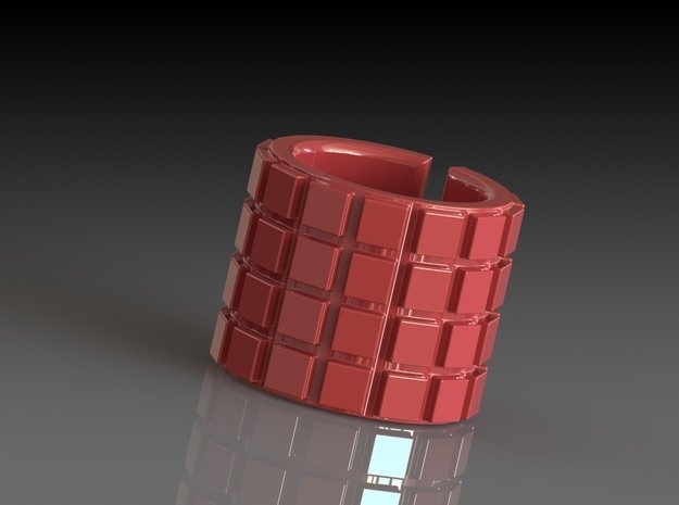 'RUFFLED' LONGER - OPEN EDGE SERIES in Red Processed Versatile Plastic
