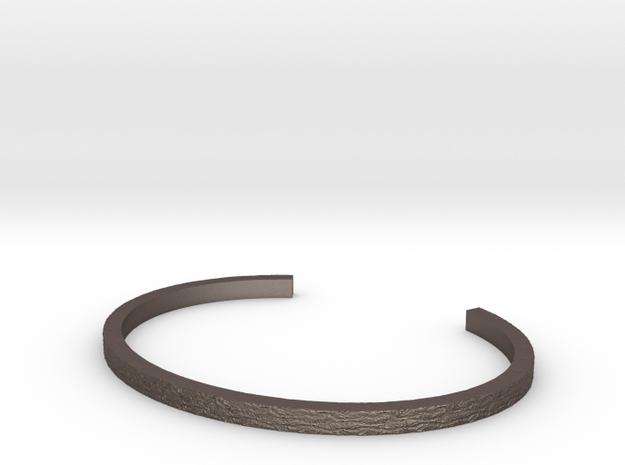 Hammered Bangle in Polished Bronzed Silver Steel
