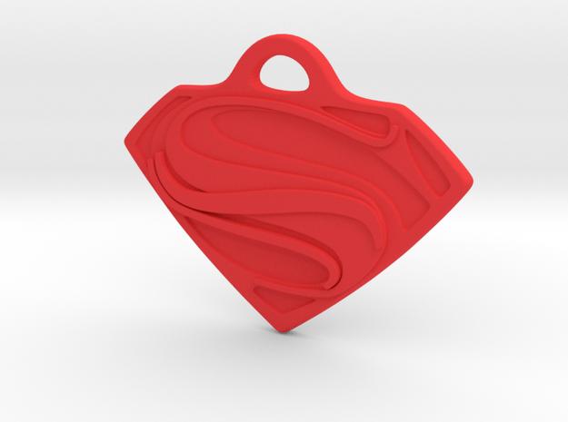 Superman Man of Steel Key Chain in Red Processed Versatile Plastic