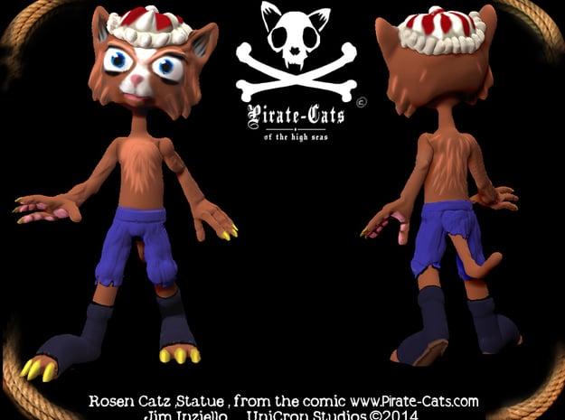 Pirate-Cat RosenCatz in Full Color Sandstone