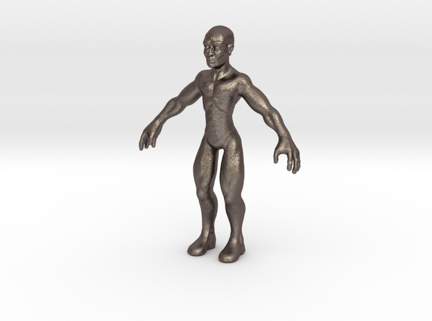 Character01-small in Polished Bronzed Silver Steel