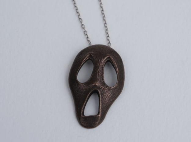 Scream in Polished Bronze Steel