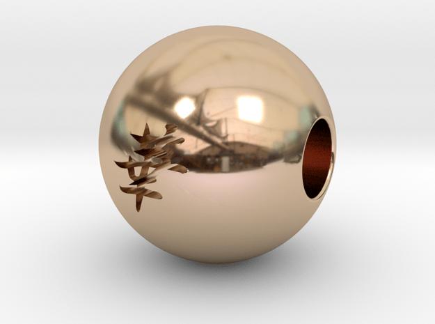 16mm Hana(Flower) Sphere in 14k Rose Gold
