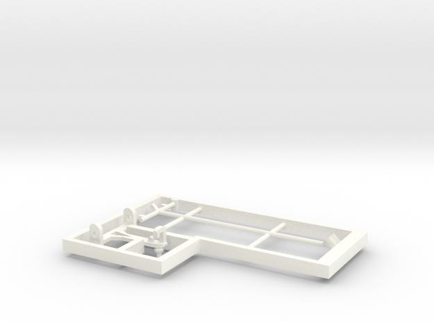 Model loco E13 pantograph in White Processed Versatile Plastic