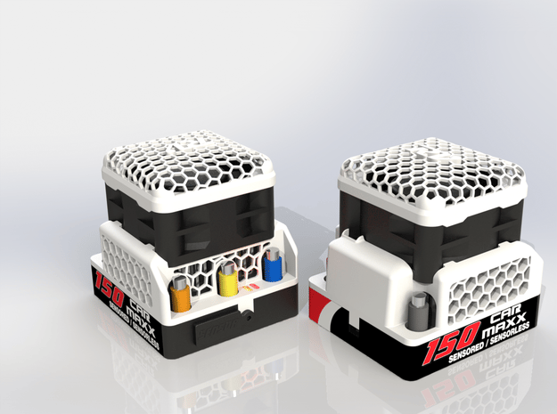 CarMaxx 150 SS8 ESC Top V3 4020Fan in White Natural Versatile Plastic
