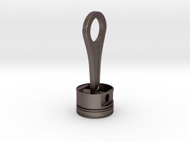 Piston and Conrod Pendant 32,8millimeters higth in Polished Bronzed Silver Steel
