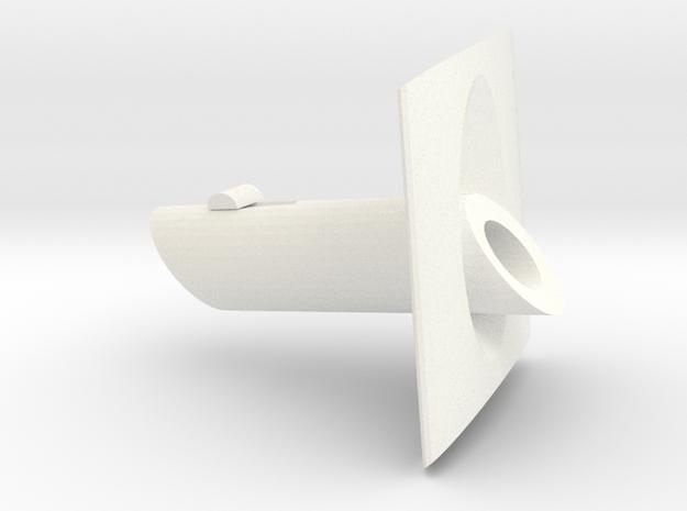 Portabroc (1) in White Processed Versatile Plastic