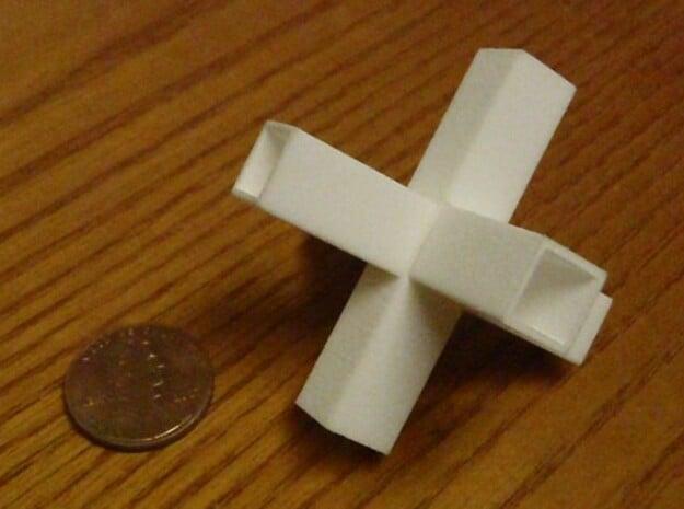 plus sign puzzle in White Natural Versatile Plastic
