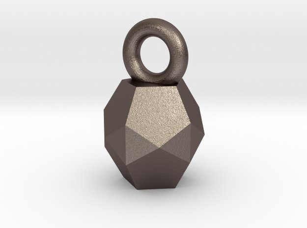 Charm Small in Polished Bronzed Silver Steel