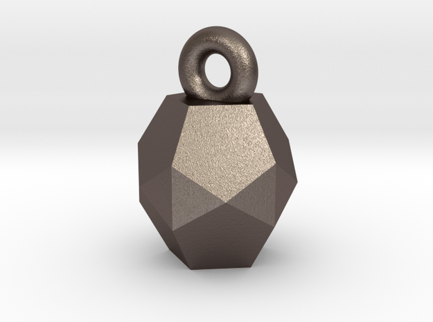 Charm  in Polished Bronzed Silver Steel