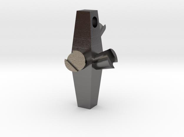 Long Charm 2 in Polished Nickel Steel