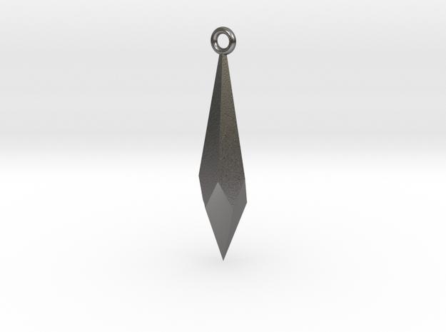 Diamond Long Charm  in Polished Nickel Steel