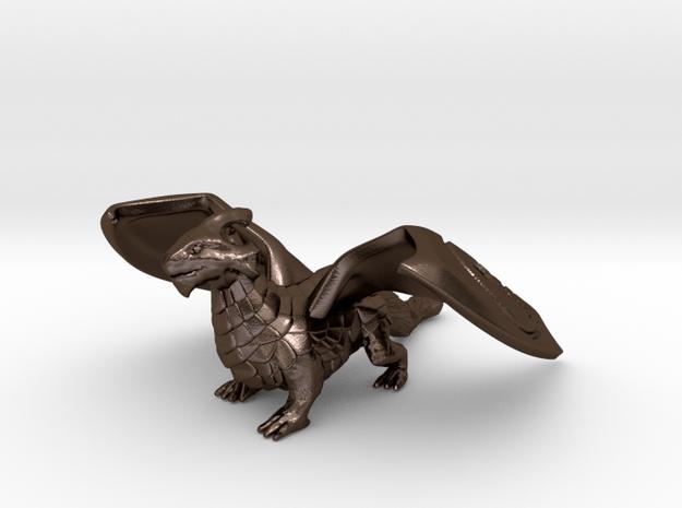 Dragon (Healing Blade Variant) in Polished Bronze Steel