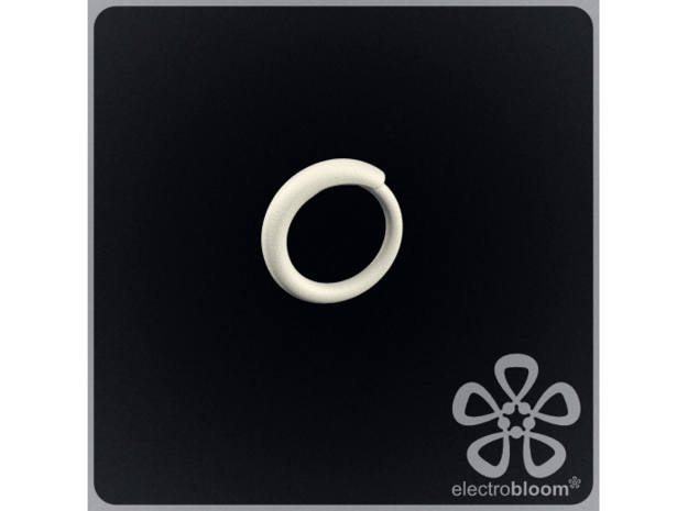 Snap ring. Size 17.5mm in White Natural Versatile Plastic