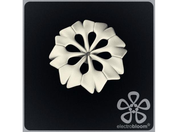 Rachel flower charm. in White Natural Versatile Plastic