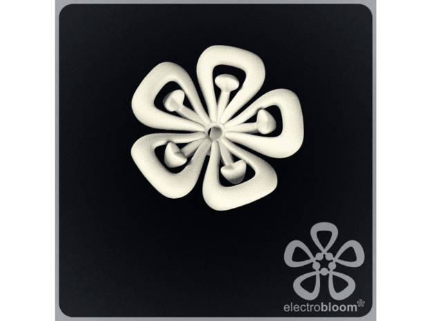 Lucy flower charm. in White Natural Versatile Plastic