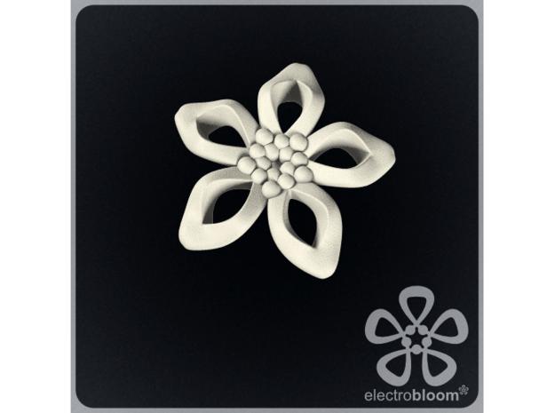 Elizabeth flower charm. in White Natural Versatile Plastic
