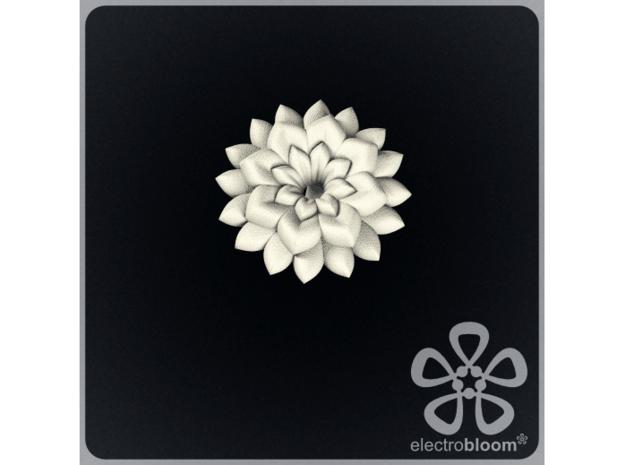 Betty flower charm. in White Natural Versatile Plastic