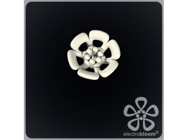 Joshua flower charm. in White Natural Versatile Plastic