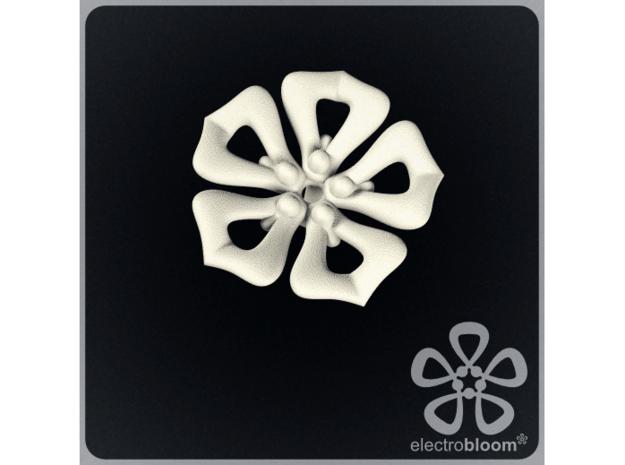 Jenny flower charm. in White Natural Versatile Plastic
