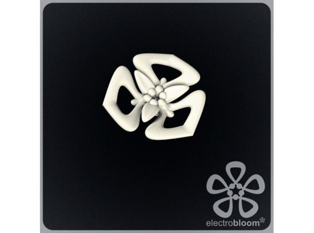 Tanya flower charm. in White Natural Versatile Plastic