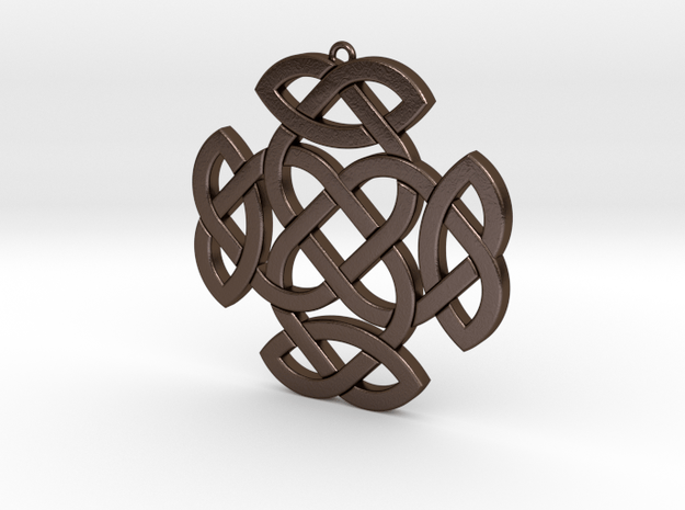 Celtic Knot 2 in Polished Bronze Steel