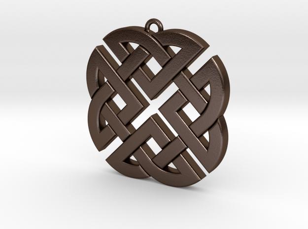 Celtic Knot 1 in Polished Bronze Steel