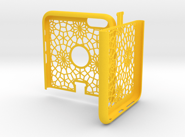 IPhone6 Plus Two Part Morocan in Yellow Processed Versatile Plastic