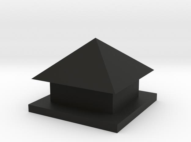 Hut in Black Natural Versatile Plastic