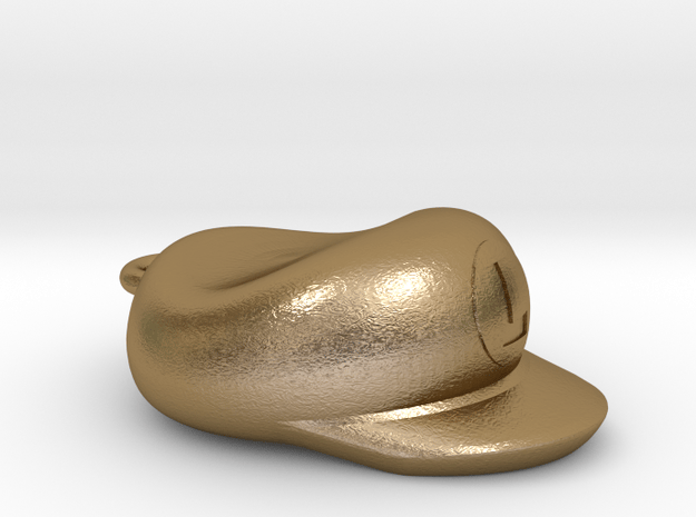 Luigi Cap Necklace in Polished Gold Steel
