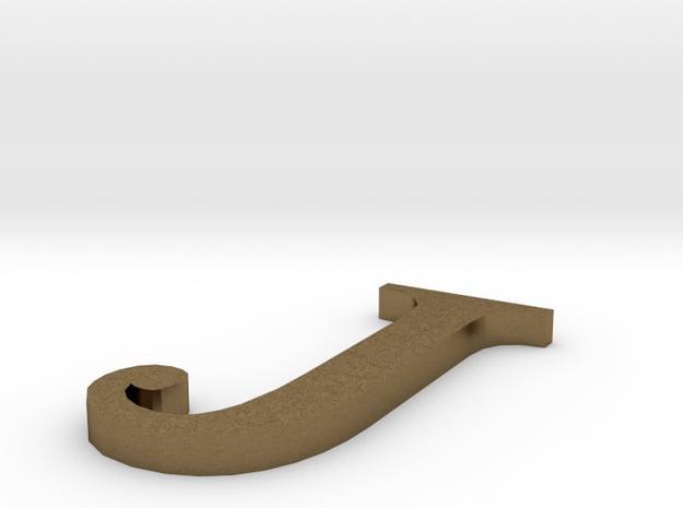 Letter-J in Natural Bronze
