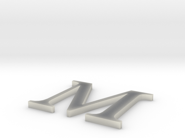 Letter-M in Natural Bronze