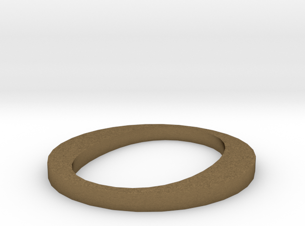 Letter-O in Natural Bronze