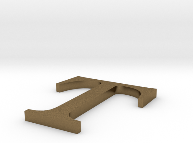 Letter-T in Natural Bronze