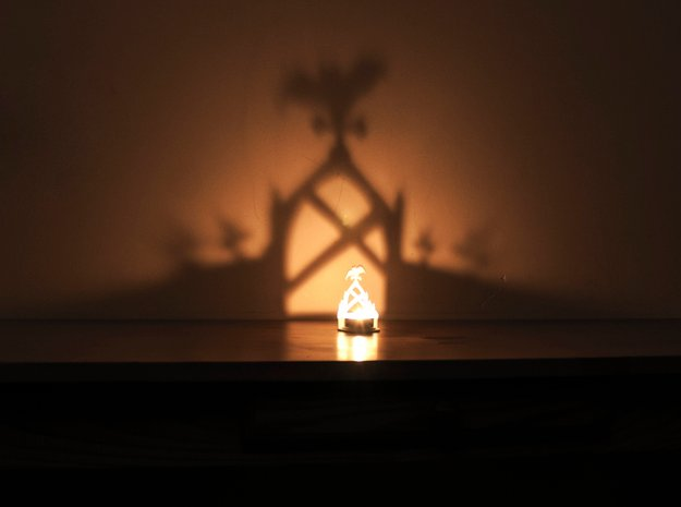 In the shadows - A Halloween Graveyard Projection in White Natural Versatile Plastic