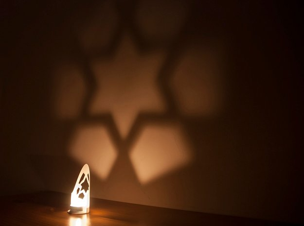 Star wall projection in White Natural Versatile Plastic